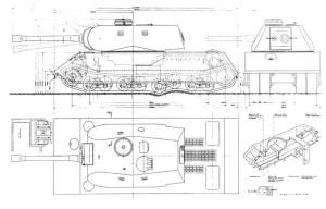 Typ 205A, Mauschen , October 28, 1942 – Krupp  turret/Porsche suspensions – 150ton – 150mm + 75mm gun