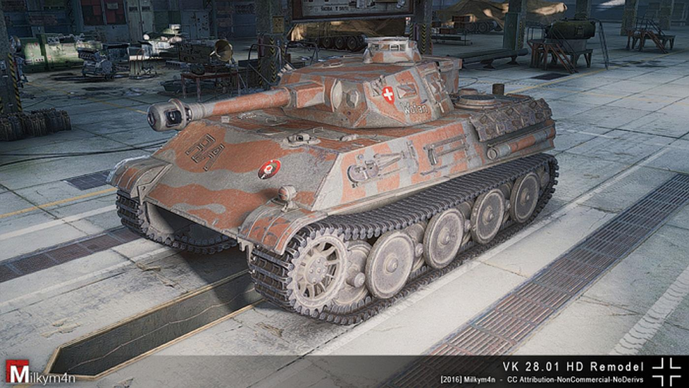 Peachy World Of Tanks Vk 28 01 Hd Remodel By Milkym4Na Mmowg Net Largest Home Design Picture Inspirations Pitcheantrous