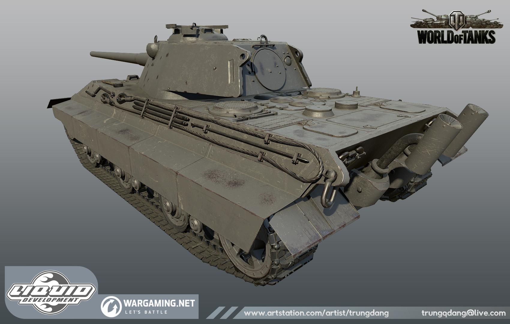Сборная модель танк е-50 1/35-2