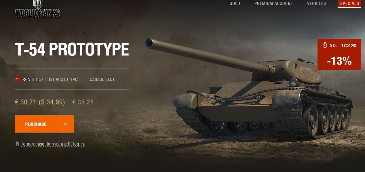 World of Tanks NA T-54 Prototype on sale | MMOWG net