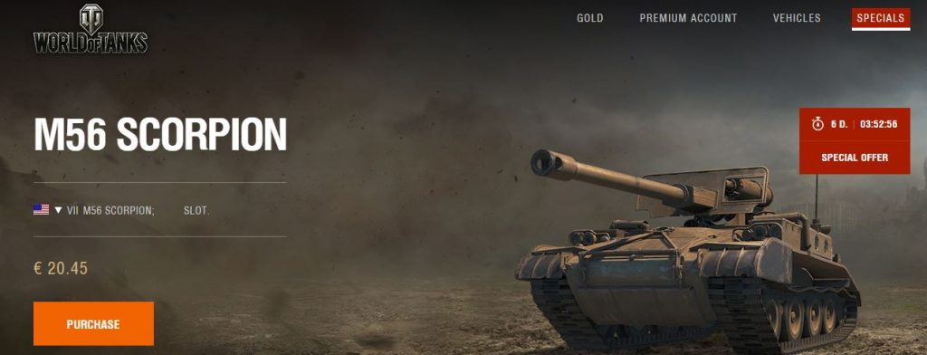 M 56 Scorpion For Sale In California: World Of Tanks EU M56 Scorpion On Sale